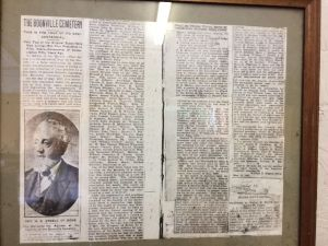 Photograph of Original Boonville Cemetery History Newspaper Article