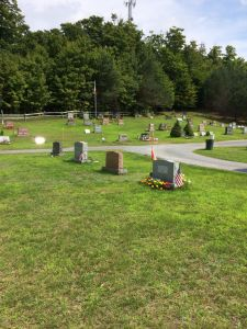 Pathway & Graves at Boonville Cemetery