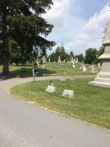 Curving Pathway of Boonville Cemetery