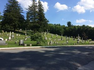 View of Boonville Cemetery from across the road