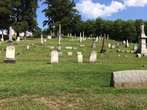 Graves and plots at Boonville Cemetery