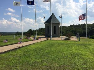 Image of pavilion at Veterans' Memorial at Boonville Cemetery