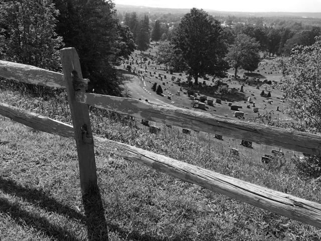 View from top of Boonville Cemetery hill